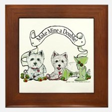 West Highland Happy Hour! Framed Tile