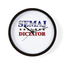 SEMAJ for dictator Wall Clock