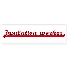 Insulation worker (sporty red Bumper Bumper Sticker