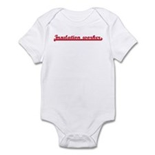 Insulation worker (sporty red Infant Bodysuit