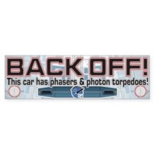 Phasers StarshipModeler.com Bumper Car Sticker