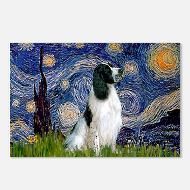 Starry / Eng Springer Postcards (Package of 8)