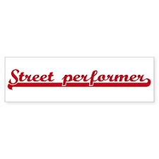 Street performer (sporty red) Bumper Bumper Sticker