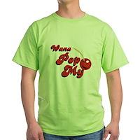 Wana Pop My Cherry? Green T-Shirt