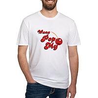 Wana Pop My Cherry? Fitted T-Shirt