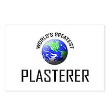 World's Greatest PLASTERER Postcards (Package of 8
