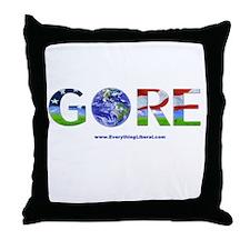 GORE Global Warming Throw Pillow