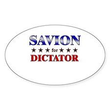 SAVION for dictator Oval Decal