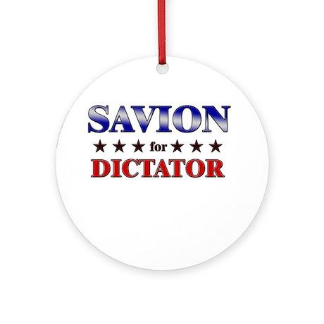 SAVION for dictator Ornament (Round)