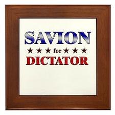 SAVION for dictator Framed Tile