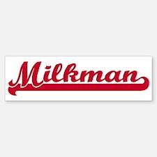 Milkman (sporty red) Bumper Bumper Bumper Sticker