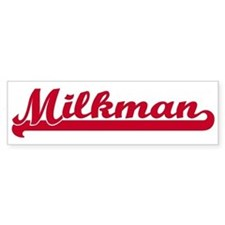 Milkman (sporty red) Bumper Bumper Sticker