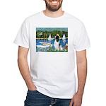 Sailboats / Eng Springer White T-Shirt