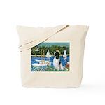 Sailboats / Eng Springer Tote Bag