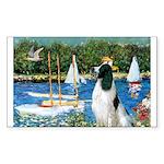 Sailboats / Eng Springer Sticker (Rectangle)
