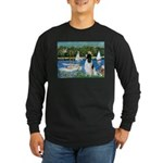 Sailboats / Eng Springer Long Sleeve Dark T-Shirt