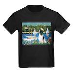 Sailboats / Eng Springer Kids Dark T-Shirt