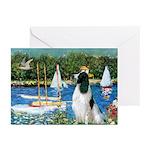 Sailboats / Eng Springer Greeting Cards (Pk of 10)
