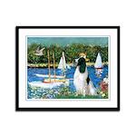 Sailboats / Eng Springer Framed Panel Print
