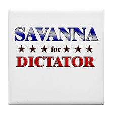 SAVANNA for dictator Tile Coaster