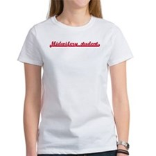 Midwifery student (sporty red Tee