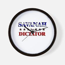 SAVANAH for dictator Wall Clock