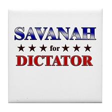 SAVANAH for dictator Tile Coaster