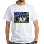 Starry / 2 Eng Springe White T-Shirt