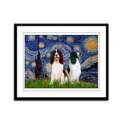 Starry / 2 Eng Springe Framed Panel Print