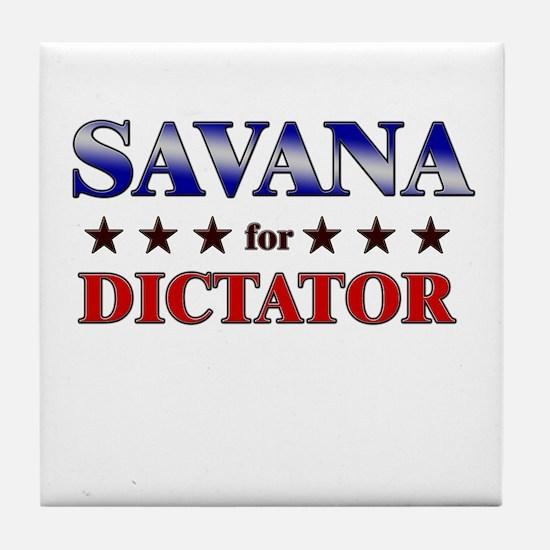 SAVANA for dictator Tile Coaster