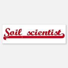 Soil scientist (sporty red) Bumper Bumper Bumper Sticker