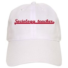Sociology teacher (sporty red Baseball Cap