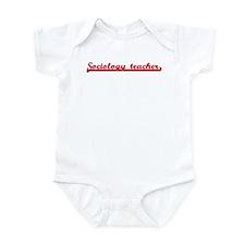 Sociology teacher (sporty red Infant Bodysuit