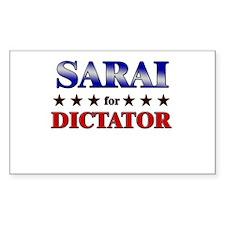 SARAI for dictator Rectangle Decal