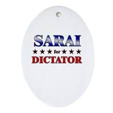 SARAI for dictator Oval Ornament