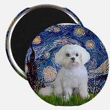 Starry Night / Maltese (R) Magnets