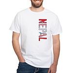 Nepal Stamp White T-Shirt