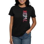 Nepal Stamp Women's Dark T-Shirt