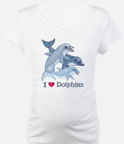 Dolphin Family and Text Shirt