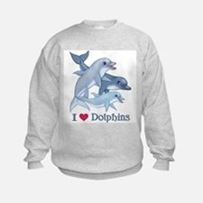 Dolphin Family and Text Sweatshirt
