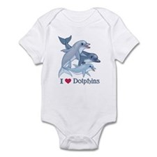 Dolphin Family and Text Infant Bodysuit