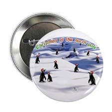 "Chimp Christmas 2.25"" Button (10 pack)"
