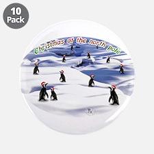 "Chimp Christmas 3.5"" Button (10 pack)"