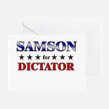SAMSON for dictator Greeting Card