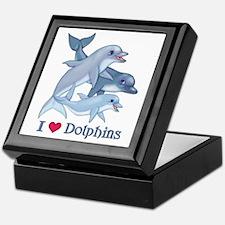 Dolphin Family and Text Keepsake Box