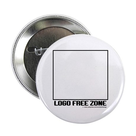 """Logo Free Zone 2.25"""" Button (100 pack)"""