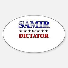 SAMIR for dictator Oval Decal