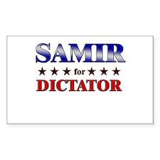 SAMIR for dictator Rectangle Decal