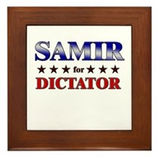 SAMIR for dictator Framed Tile