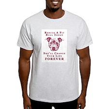 Pit Bull Rescue Ash Grey T-Shirt